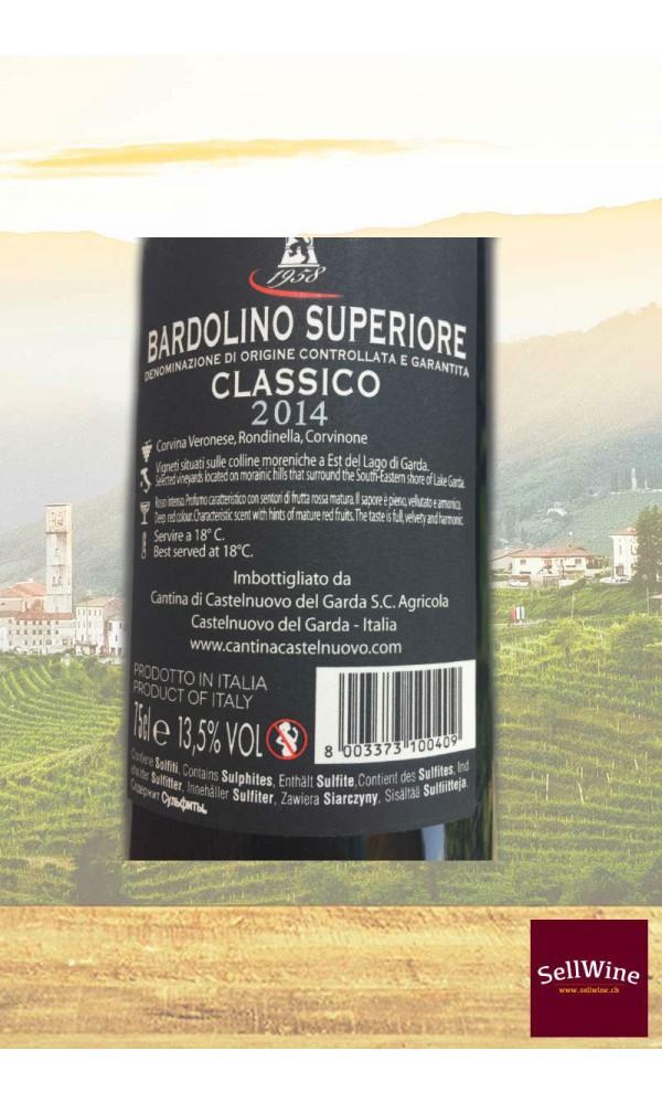 """SellWine-Cantina Castelnuovo del Garda Bosco del Gal """"Prà dell'Albi"""" Bardolino Superiore DOCG Classico 2014-Etichetta"""