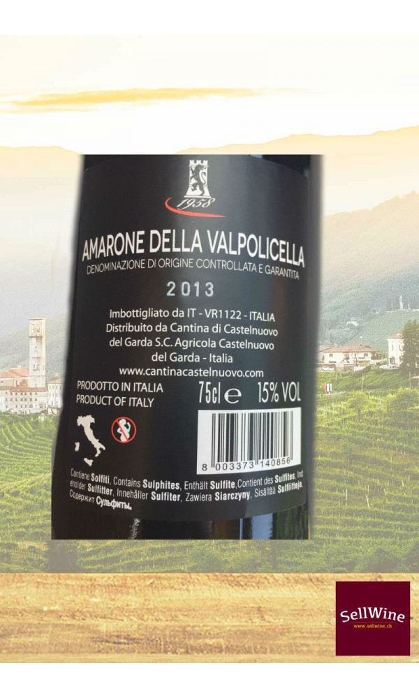 SellWine-Cantina Castelnuovo del Garda Amarone della Valpolicella DOCG 2013-Etichetta