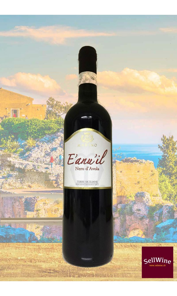 SellWine-Marino Vini E'anuil Nero d'Avola Terre Siciliane IGT BIO 2015