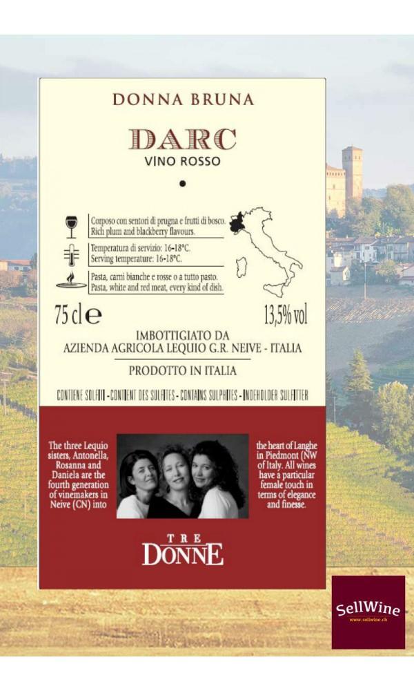 SellWine-Tre Donne DARC Vino Rosso Piemonte Donna Bruna-Etichetta