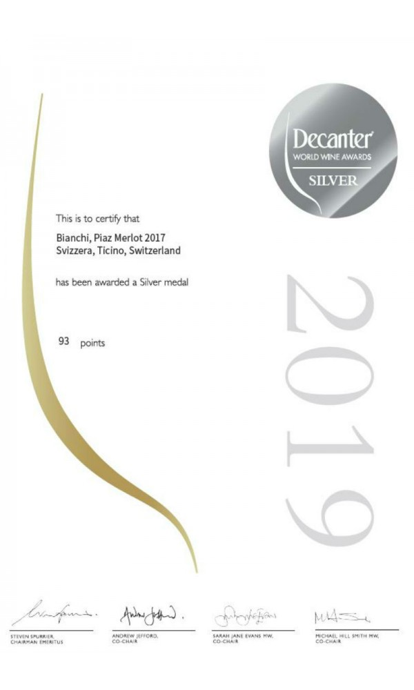 SellWine / Azienda Bianchi Piaz Merlot IGT Svizzera Italiana 2017-Decanter