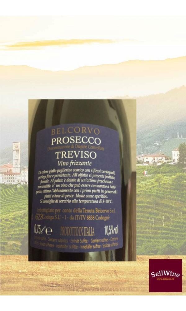 SellWine-Tenuta Belcorvo Prosecco DOC Treviso Vino Frizzante-Etichetta