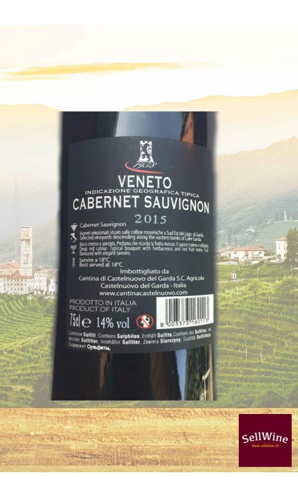 """SellWine-Cantina Castelnuovo del Garda Bosco del Gal """"Moro del Castel"""" Cabernet Sauvignon Veneto IGT 2015-Etichetta"""