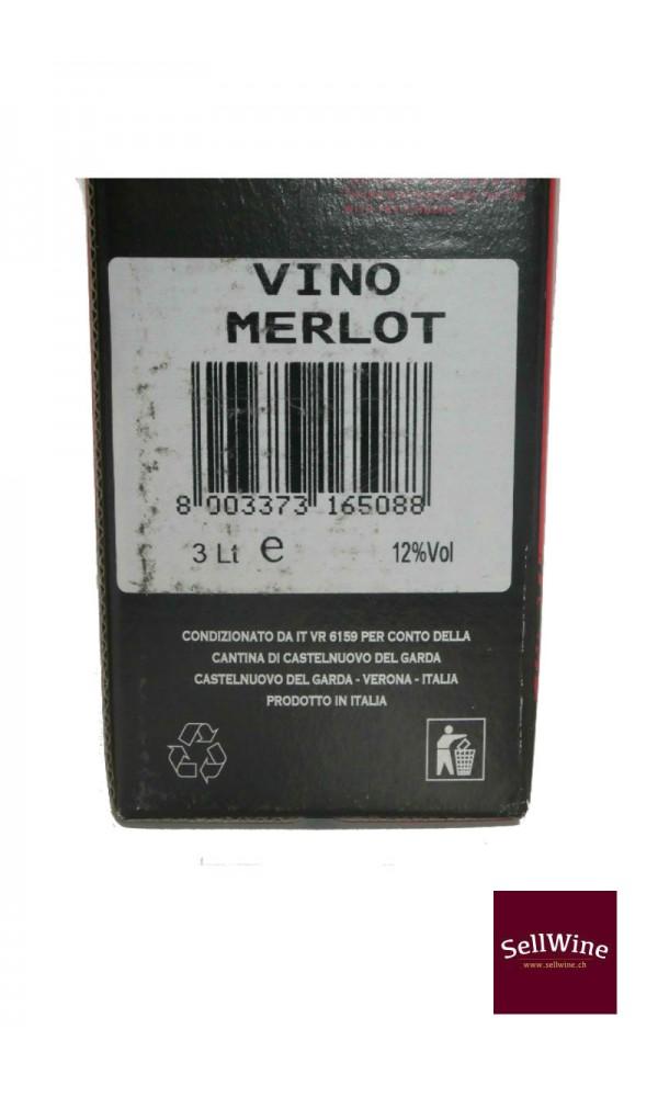 SellWine-Cantina Castelnuovo del Garda Merlot Bag in Box 3 L-Etichetta