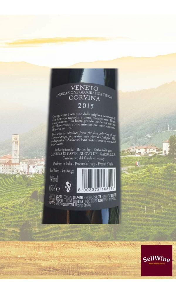 """SellWine-Cantina Castelnuovo del Garda """"Barbarossa"""" Corvina Veneto IGT 2015-Etichetta"""