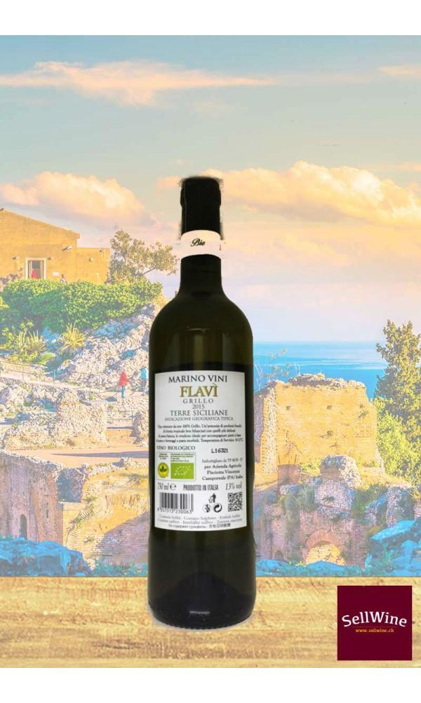 SellWine-Marino Vini Flavì Grillo Terre Siciliane IGT BIO 2015-Etichetta