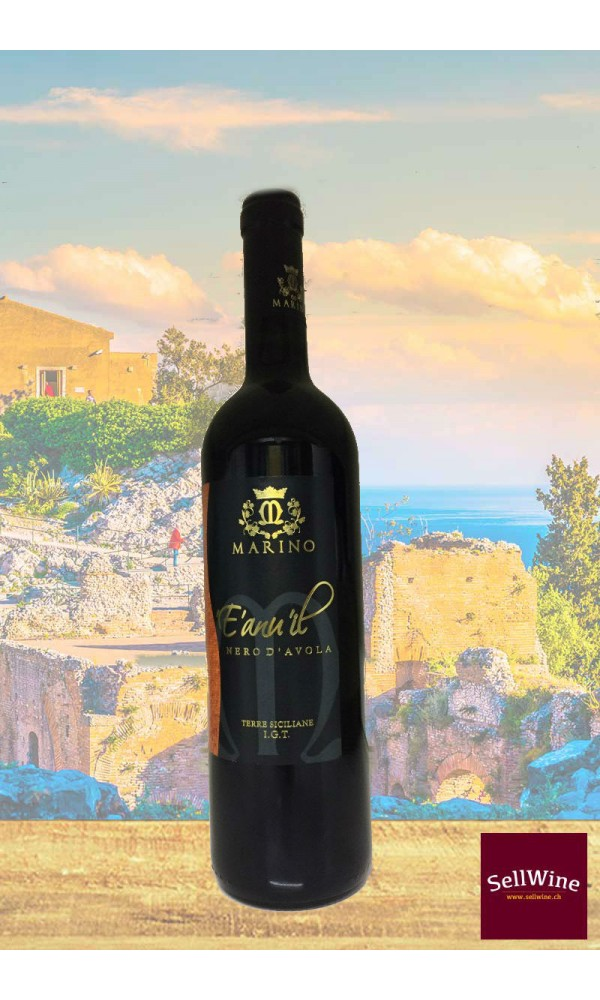 SellWine-Marino Vini E' anuil 'il Nero d'Avola Terre Siciliane IGT 2015