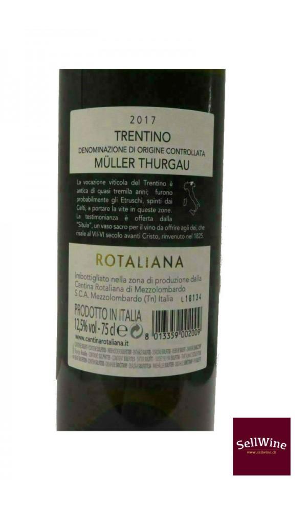 SellWine-Cantina Rotaliana Müller Thurgau Trentino DOC 2017-Etichetta2