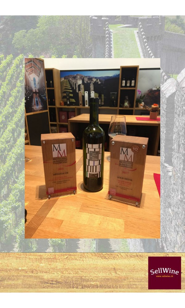 SellWine-CAGI Cantina Giubiasco 100 anni di Merlot Bianco Barricato 2015 Medaglia d'oro Mondial du Merlot 2017-Exp 1