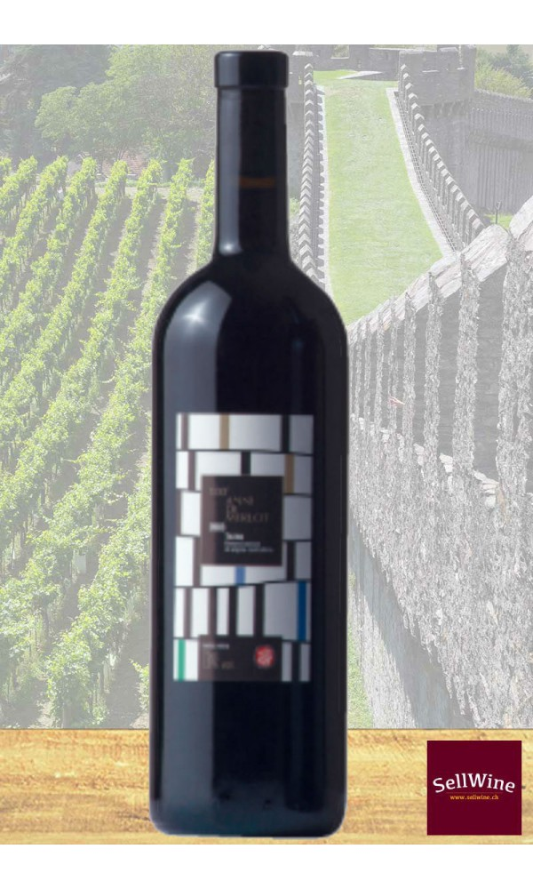 SellWne / CAGI Cantina Giubiasco 100 anni di Merlot Rosso Barricato Ticino DOC 2014