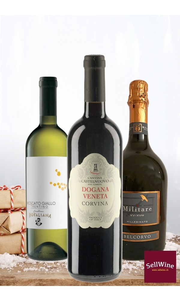Simple intense wines selection