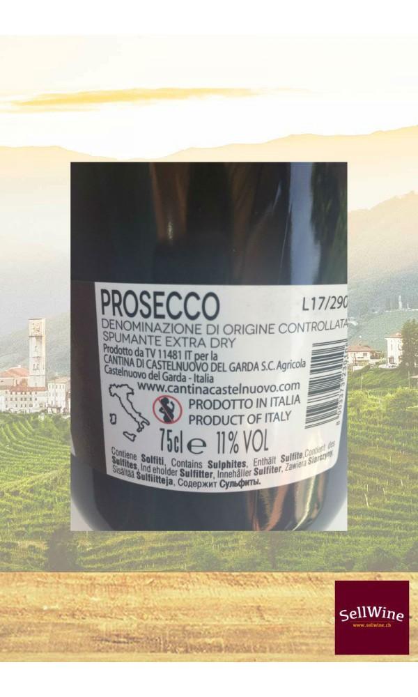 SellWine-Cantina Castelnuovo del Garda Prosecco DOC Spumante Extra Dry-Etichetta