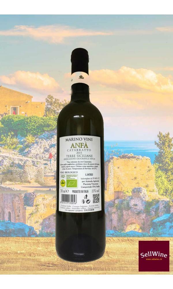 SellWine-Marino Vini Anfà Catarratto Terre Siciliane IGT Bio 2015-Etichetta