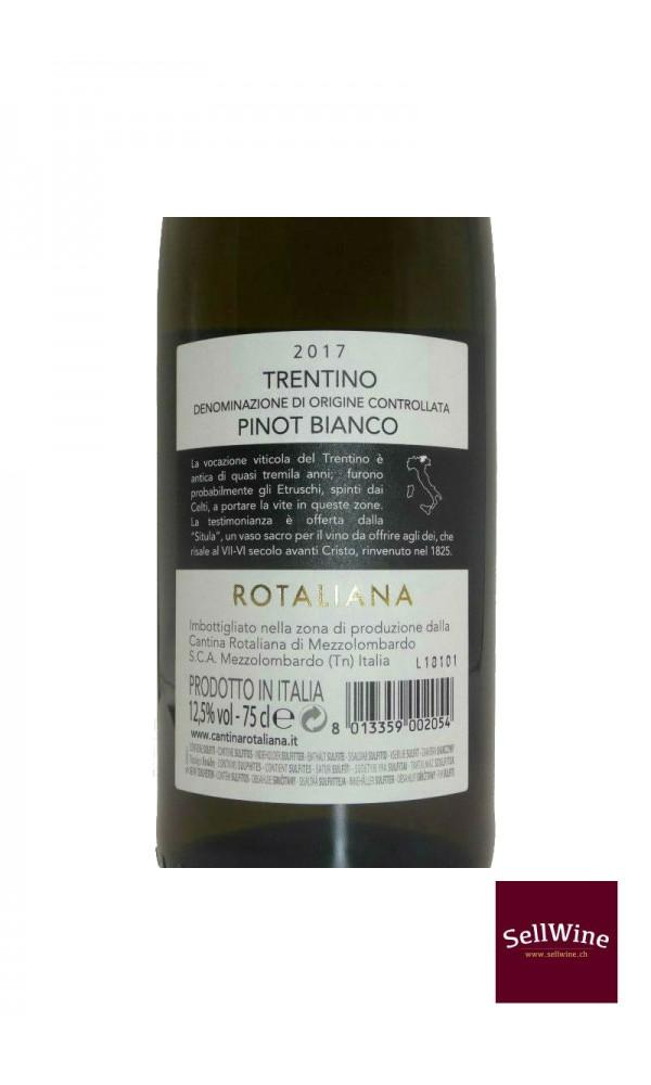 SellWine-Cantina Rotaliana Pinot Bianco Trentino DOC 2017-Etichetta