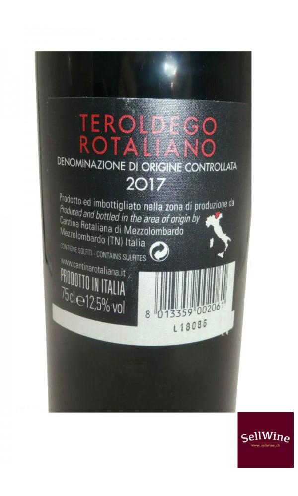SellWine-Cantina Rotaliana Teroldego Rotaliano DOC Etichetta Rossa 2017-Etichetta