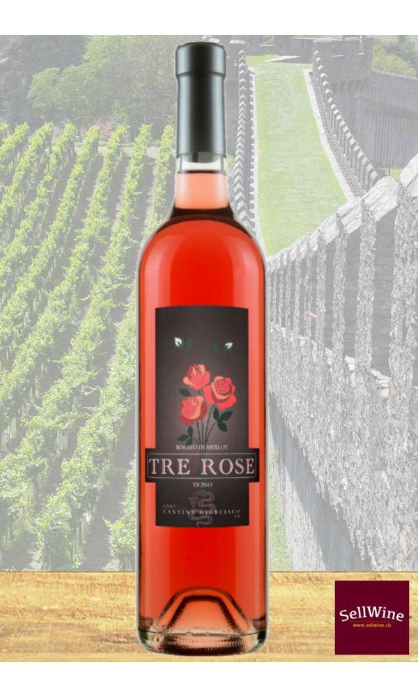 SellWine / CAGI Cantina Giubiasco Tre Rose Rosato di Merlot Ticino DOC 2017