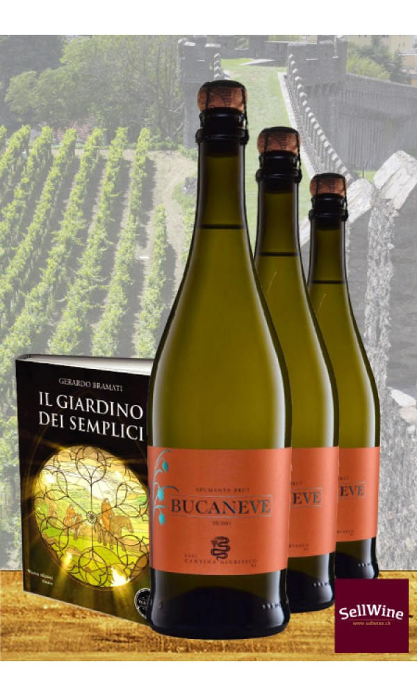 SellWine Libro: Il Giardino dei semplici - Vino: CAGI Spumante Brut Bucaneve Bianco di Merlot Ticino DOC 2017