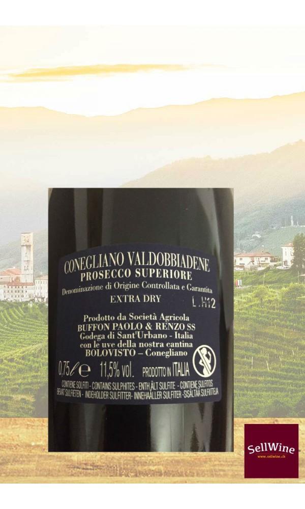 SellWine-Tenuta Belcorvo Bolovisto Conegliano Valdobbiadene Prosecco Superiore DOCG Extra Dry-Etichetta