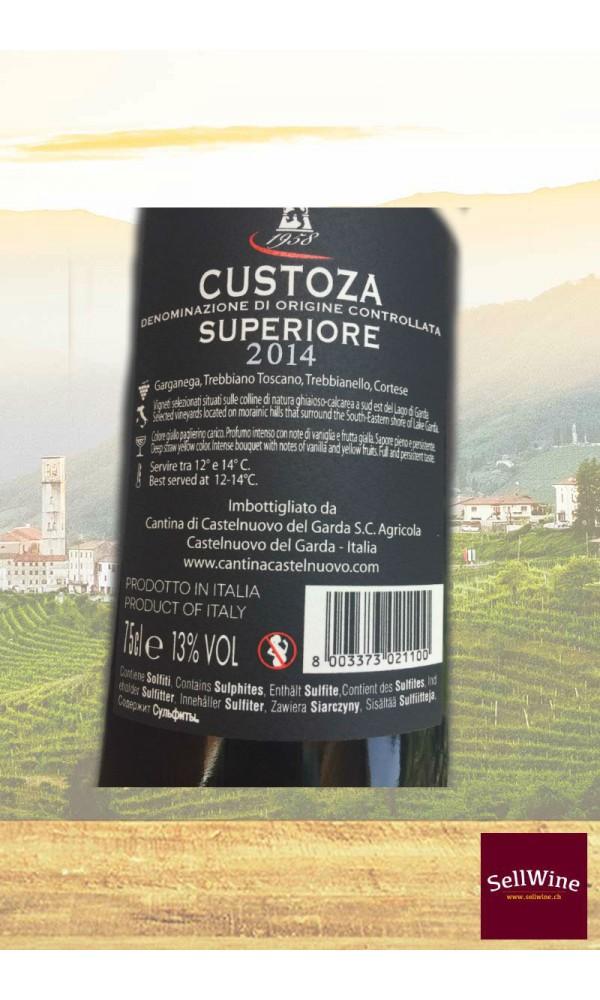 """SellWine-Cantina Castelnuovo del Garda Bosco del Gal """"Albarell"""" Custoza DOC Superiore 2014-Etichetta"""