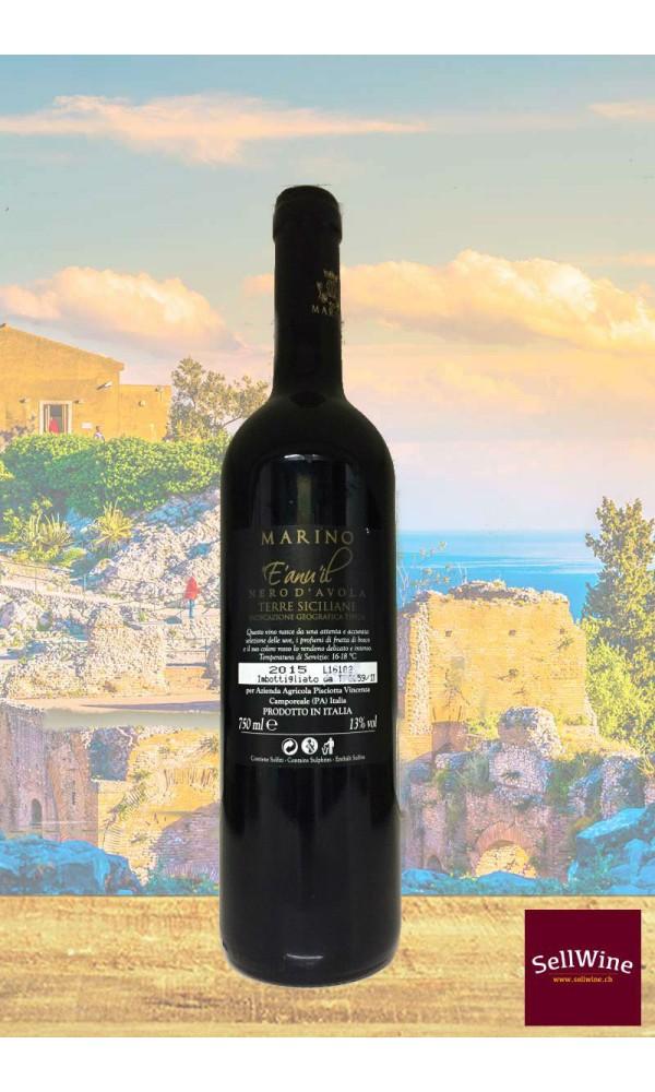 SellWine-Marino Vini E' anuil 'il Nero d'Avola Terre Siciliane IGT 2015-Etichetta