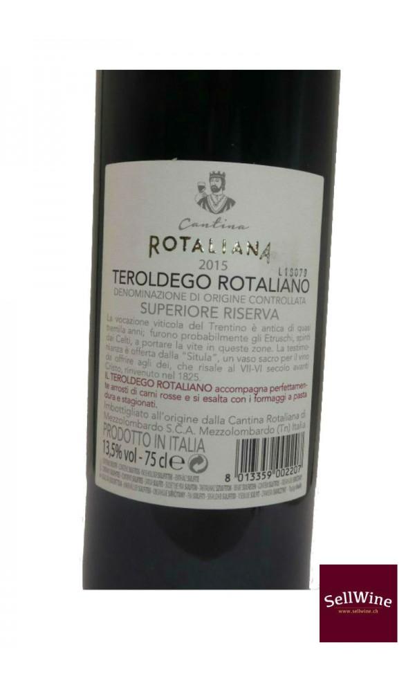 SellWine-Cantina Rotaliana Teroldego Rotaliano DOC Superiore Riserva 2015-Etichetta